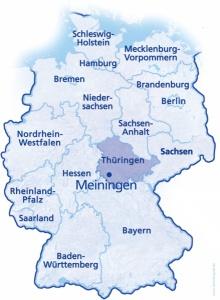 Carte Allemagne Thuringe.Comite De Jumelage Bussy Meiningen Presentation Et Historique